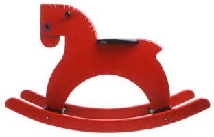 Playsam rocking horse red traditional kids toys and games by
