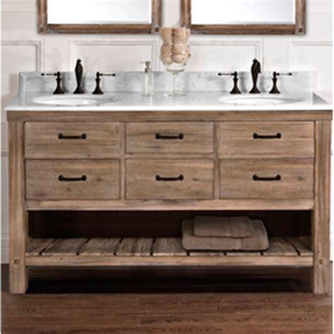 fairmont designs napa 60quot double bowl open shelf vanity