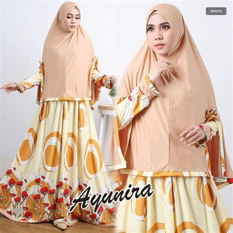 Gamis Syari Mocca Set Jilbab gamis modern terbaru ayunira syar i baju muslim cantik