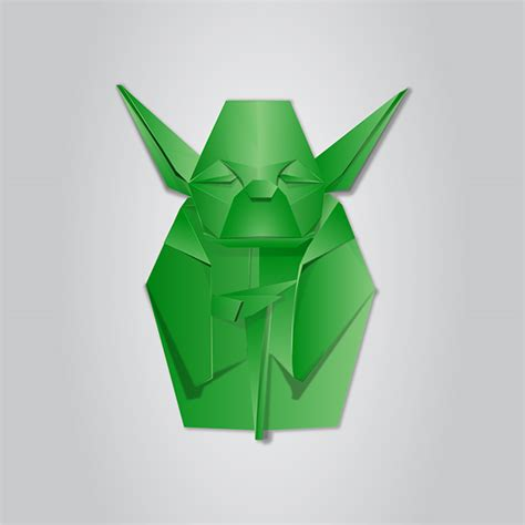 Origami Fox Mask - origami vector illustration on behance