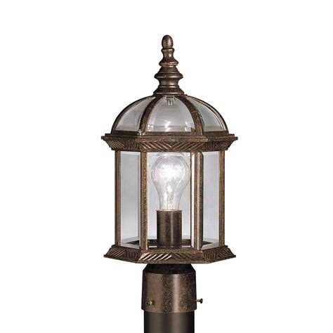 Kichler Post Lights Shop Kichler New 16 In H Tannery Bronze Post Light At Lowes