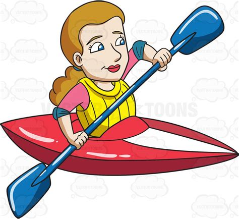 kayak clipart a excited for kayak adventure clipart