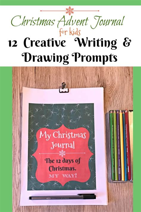printable advent journal christmas advent journal for kids 12 days of writing and