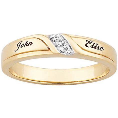 wedding bands with names personalized 18kt gold sterling silver