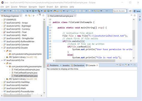 tutorial java file java file canwrite method exle