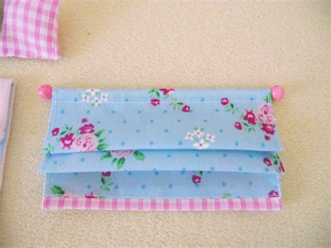 miniature doll house furniture roman blind shabby chic 12cm 4 3 4 inches wide ebay