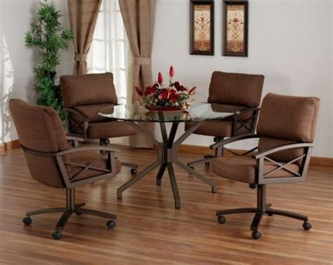 dining room table sets with caster chairs 10 best swivel tilt caster dining sets images on