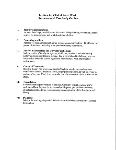 search results for social work case notes template