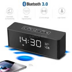 Speaker Bluetooth Portable Lcd Digital Clock Black radio alarm clock mp3 player craig electronics cma3036