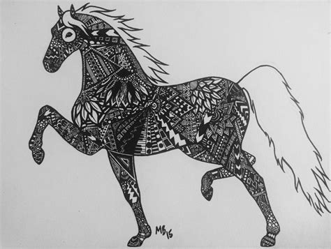 zendoodle drawing competition zen doodle saddlebred entree for drawing contest 2016