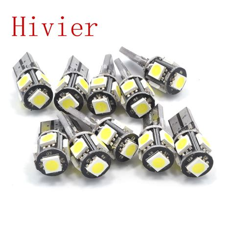 wholesale new high quality canbus white blue 10x t10 5smd