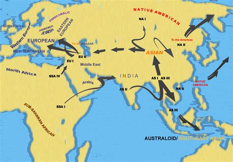 american migration from asia map confirms beachcomber route to asia out of africa dna
