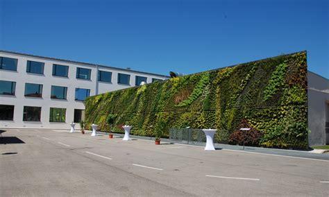 Fronius headquarters wels austria vertical garden patrick blanc