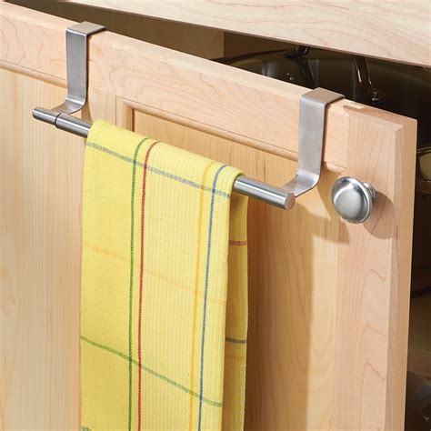 kitchen cabinet towel bar interdesign forma over the cabinet expandable kitchen dish