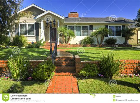 traditional family home stock image image 4485521