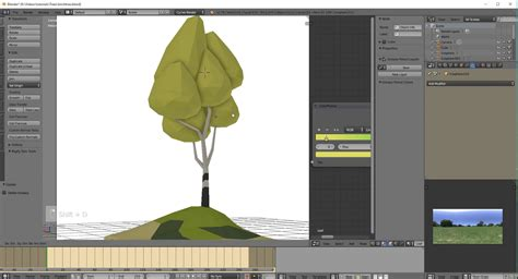 tutorial blender tree how to make low poly trees in blender cg tutorial