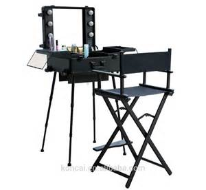 Makeup Vanity Set Band Wholesale Trolley Stand Mobile Professional Aluminum Led