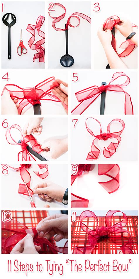 how to make the perfect christmas bow how to tie a bow step by step current
