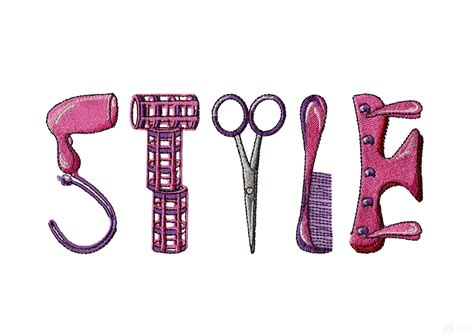 beauty shop set 1 machine embroidery designs hairdresser in style hair salon design collection