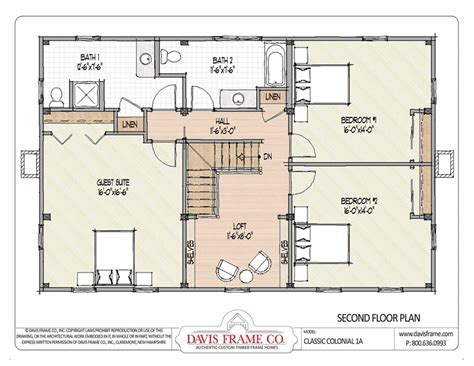 barn house plans classic colonial layout 1a davis frame