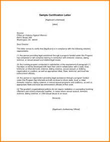 Certification Letter For On The Job Training 7 Sample Of Certification Of Employment Hvac Resumed