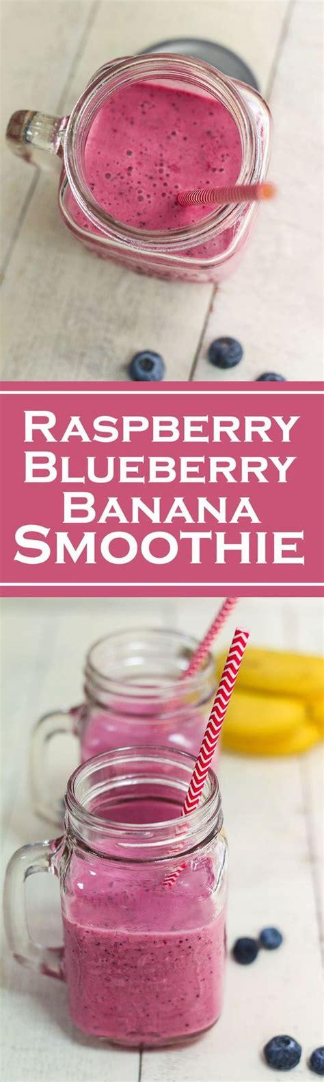 Blueberry Raspberry Detox Smoothie by Raspberry Blueberry Banana Smoothie Recipe Read More