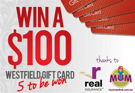 Westfield Gift Cards - competition win 1 of 5 100 westfield gift vouchers thanks to real insurance mum