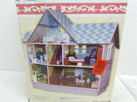 melissa doug classic heirloom victorian doll house melissa doug 2580 classic heirloom victorian wooden dollhouse box damage ebay