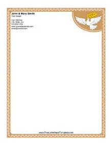 Free Religious Templates by Dove Letterhead