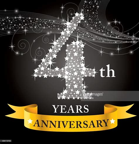 4th anniversary vector art getty images