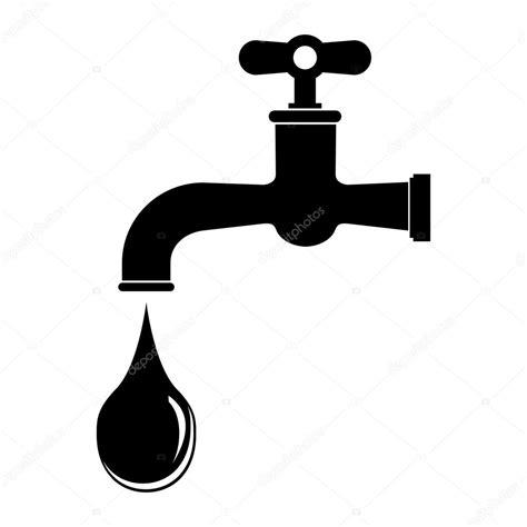 disegno rubinetto rubinetto con una goccia icona di web disegno vettoriale