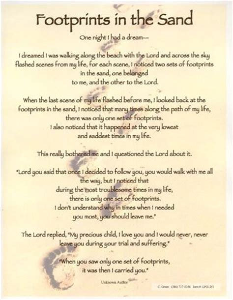 printable version of footprints in the sand poem footprints in the sand poem poetry pinterest