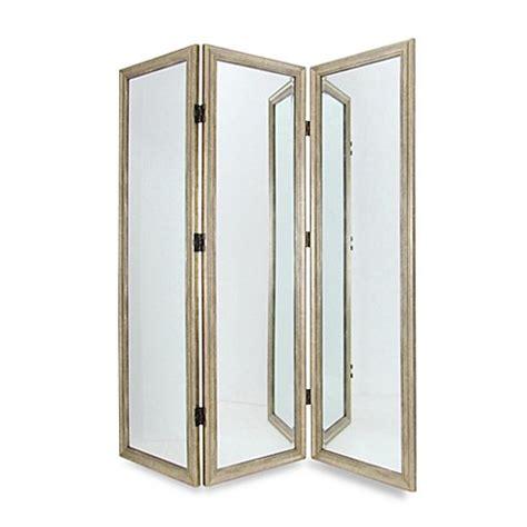 Full Size 3 Panel Dressing Mirror Room Divider Screen Mirror Room Divider