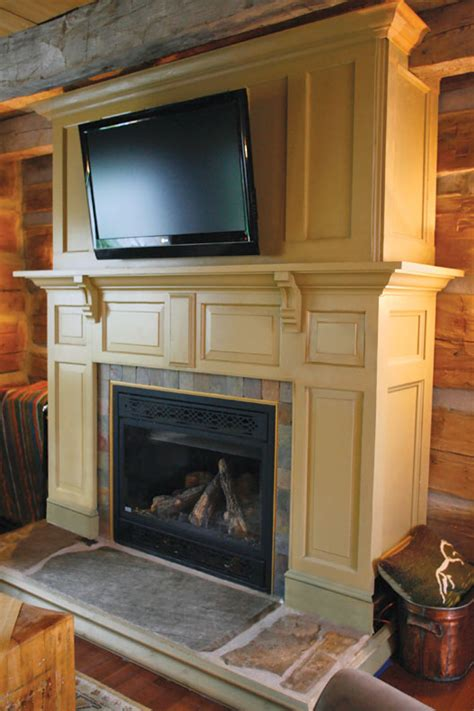 make a fireplace surround from salvaged doors house