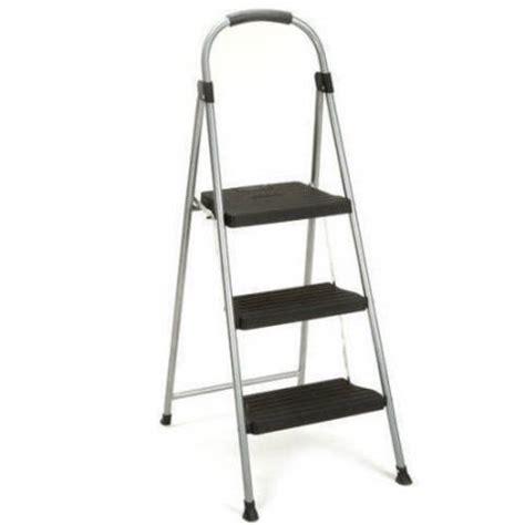 foldable step stool walmart cosco 3 step steel and resin folding step stool walmart