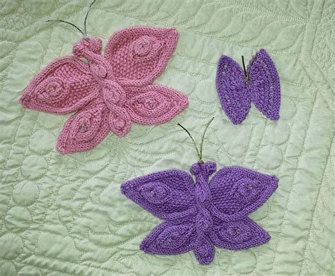 how to knit a butterfly knitted flowers and butterflies pattern by mypicot
