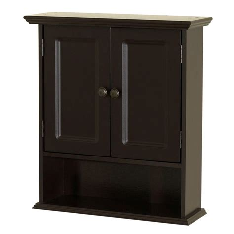 zenna home collette             bathroom storage wall cabinet  espresso