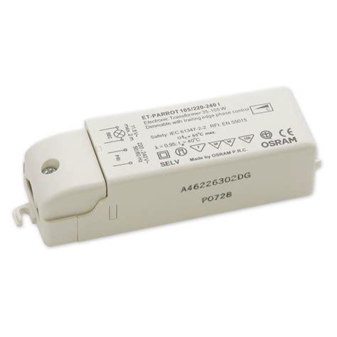 Trafo Halogen Osram 22012volt osram elektronischer halogentrafo 12v 35 105va 12volt halogen trafo 105 watt