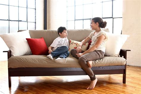 white lotus futon organic cotton boulder futon no fire retardant 5 inch