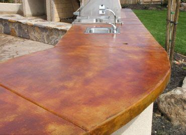 Removing Stains From Concrete Countertops by Concrete Countertop Stained Acid Stain Top Features A