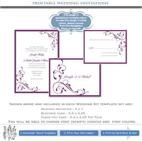 Hallmark Wedding Invitation Printable Free Our Purple Printable Wedding Invitations In The Www Hallmark Templates To Free Templates