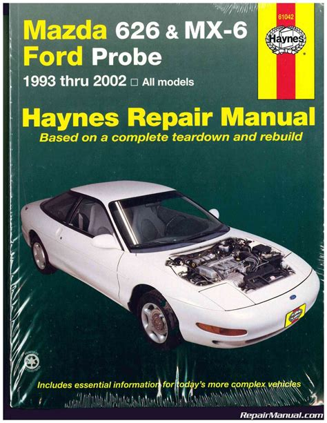free service manuals online 1996 ford probe electronic valve timing 1993 2002 mazda 626 mx 6 ford probe haynes repair manual