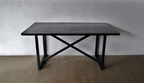 Dining Tables With Metal Legs Second Charm Collections Combining Metal And Wood For That Industrial Look Furniture