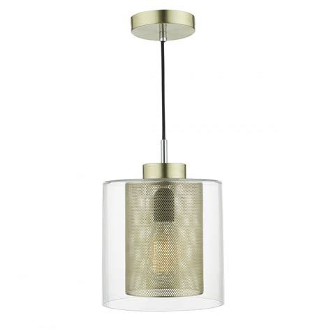 Glass Ceiling Lights Uk Contemporary Brass Mesh And Clear Glass Ceiling Pendant