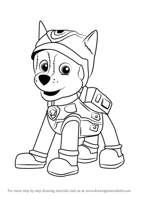 Paw Patrol Super Spy Chase Coloring Pages | step by step how to draw super spy chase from paw patrol