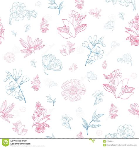 pastel pattern illustrator vector pastel pink blue japanese asian floral stock vector
