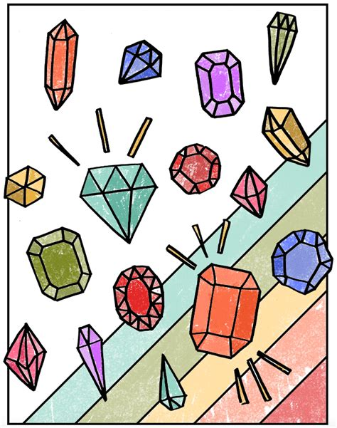 printable coloring pages gemstones 10 more awesome free printables the crafted