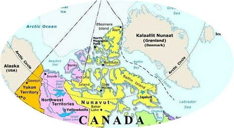 canadian map territories northern canada regional map