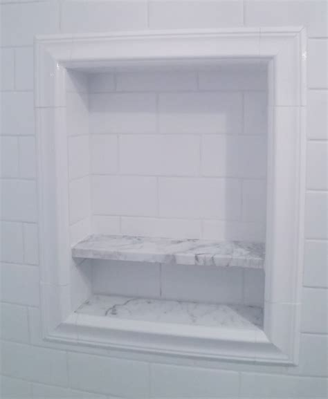 Bathroom Niche Shelves Shower Niche Subway Tiles Bathrooms Shower Niche Subway Tiles And Bath
