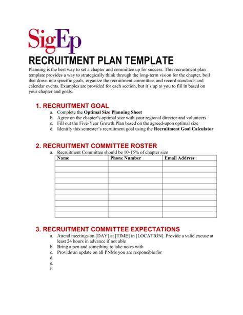 luxury college recruitment plan template hx32 003 recruiting plan exles exol gbabogados co